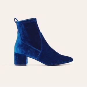 ALDO Blue Velvet Booties